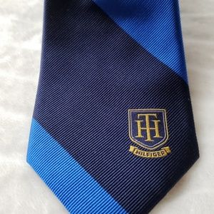 Blue and Black Tommy Hilfiger Tie